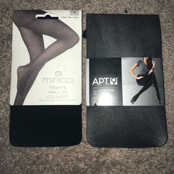 a5600832405 NWT Set of Black Tights. NWT. Apt. 9